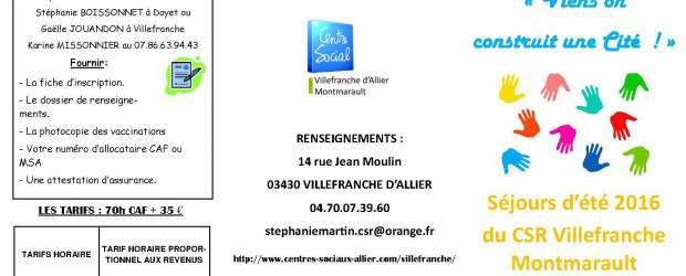 Cet été, comme l'an dernier, le Centre Social Rural de Villefranche Montmarault proposera 2 séjours, 2 Cités d'enfants sur le territoire des communes adhérentes au Centre Social. Ces mini camps […]