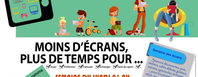 Dans le cadre de la semaine sans écran du 1 er au 5 avril 2019, le Centre Social Rural de Villefranche d'Allier Montmarault organisera divers ateliers sur son territoire.  […]
